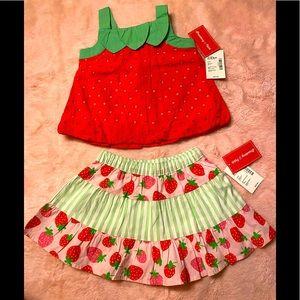 Baby girls 👧 Gymboree matching set 🍓